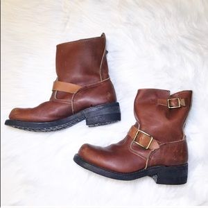 Vintage 1960's leather Moto riding style boots
